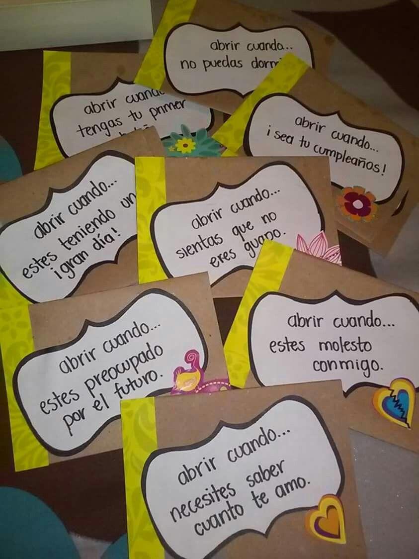 Open when Abrir cuando amor Detalles Papel | Ideas para regalos ...