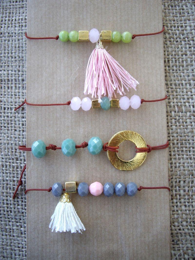 Bracelets with beads and tassels. Code: 26016/1 #jewellery #jewelleryfromourheart #thessaloniki #bracelet #jewelry #accessories