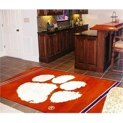 FANMATS NCAA Clemson University Tigers Nylon Face 4X6 Plush Rug