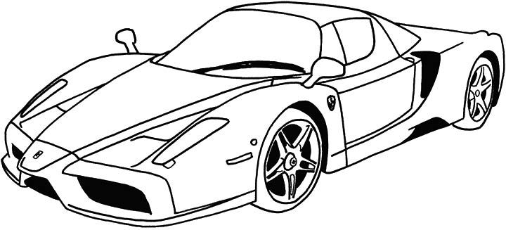 coloring pages ferrari cars - top 10 free printable race car coloring pages online