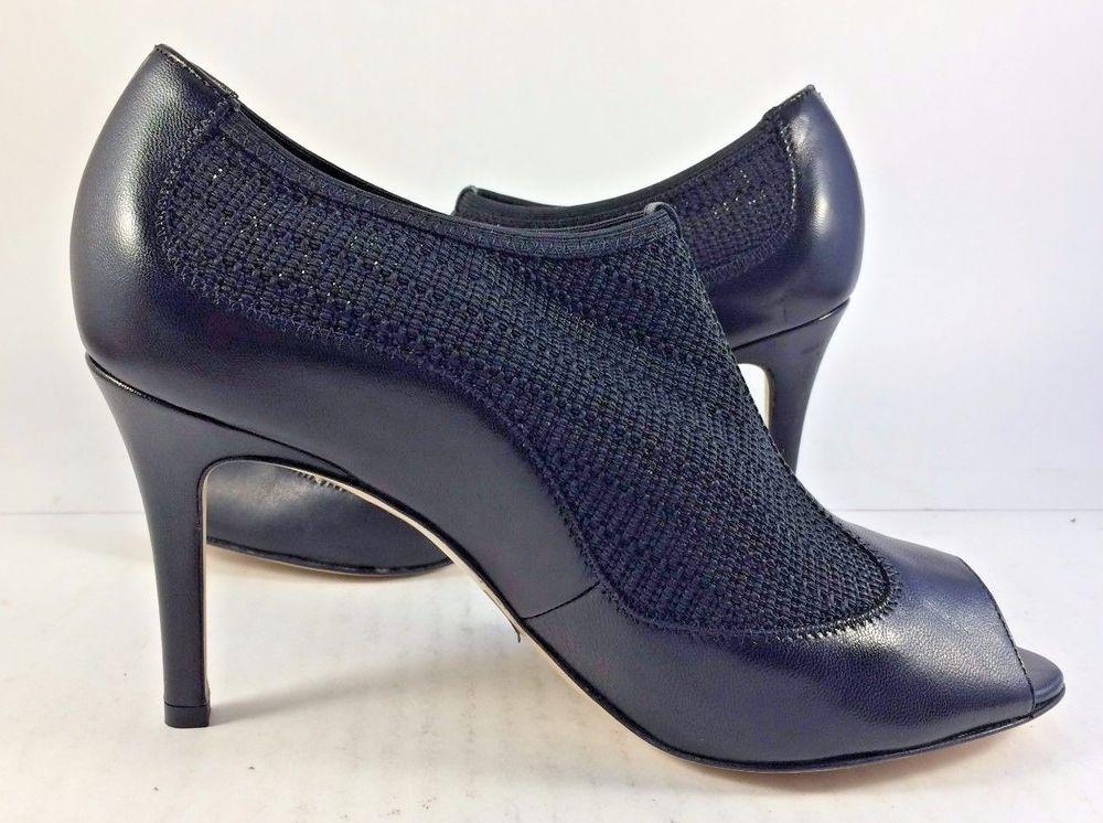 L.K. Bennett Black Leather Lara Peep Toe Pumps Womens Size EUR 37M MSPR $395 #LKBennett #PumpsClassics #Casual