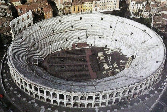 The Verona Arena is the world's 3rd largest amphitheater to ...