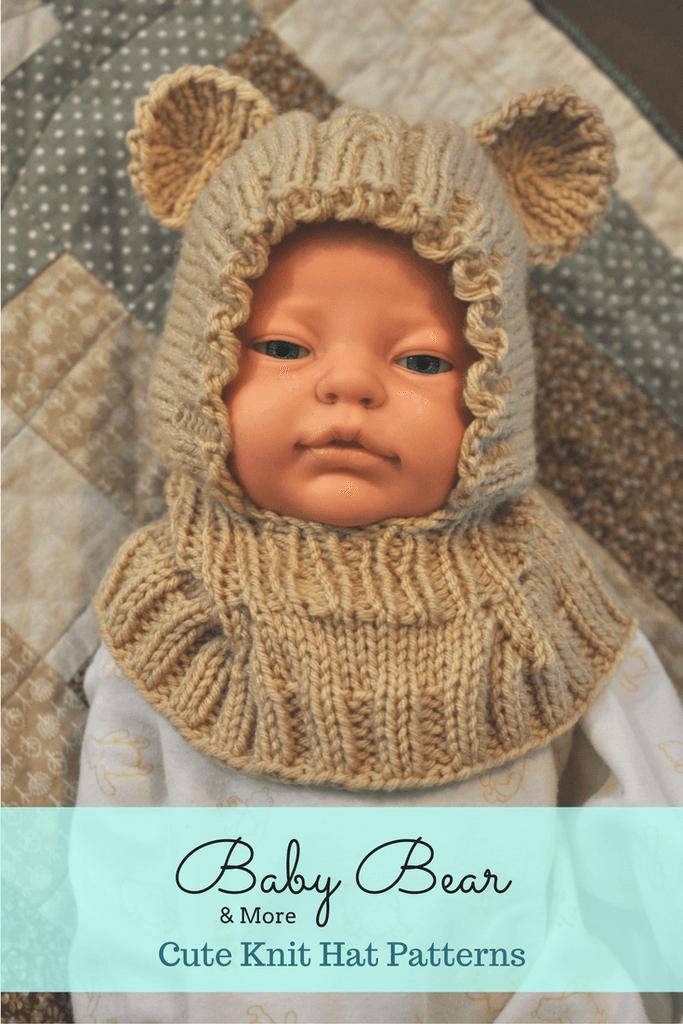 Knit Bear Hat, Dinosaur Hat, & More Knit Hat Patterns for Babies ...