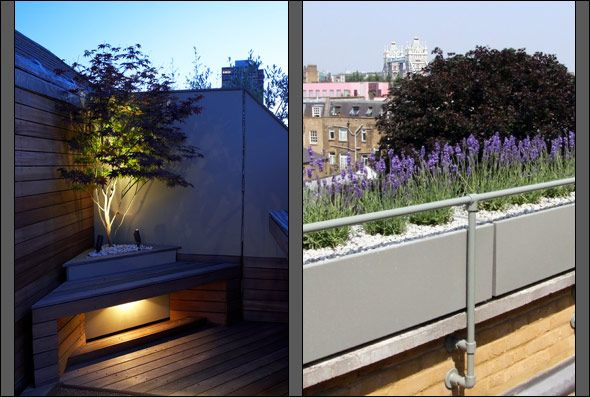 Roof Terrace Garden Design achica living design lifestyle magazine design a stunning garden b roof terrace Minimalist Roof Terrace Design