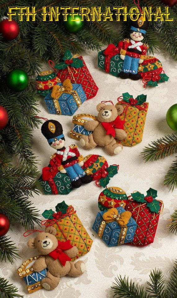 bucilla under the tree 6 pce felt christmas ornament kit 86313 diy - Christmas Tree Decoration Kits