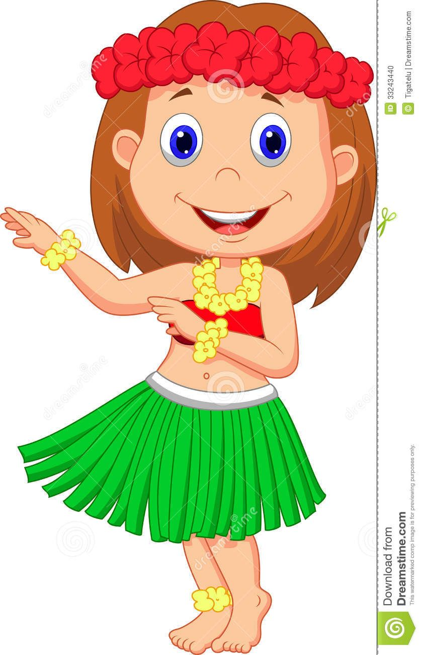 illustration of little hula girl cartoon hula pinterest hula rh pinterest com hula dancer clip art free hula dancing clipart