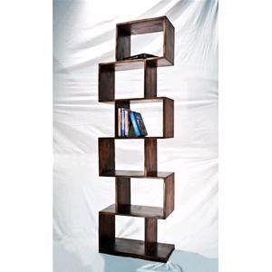 Libreria Zig Zag colore scuro in legno massello di acacia | cose ...