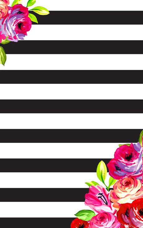 February Floral And Stripes Phone Desktop Background Wallpapers