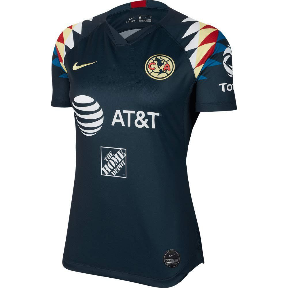 Women S Nike 2019 2020 Club America Away Jersey Armory Navy Canada Copaamerica Football Soccer Goldcup2019 Mexico Club America Nike Women Soccer Kits