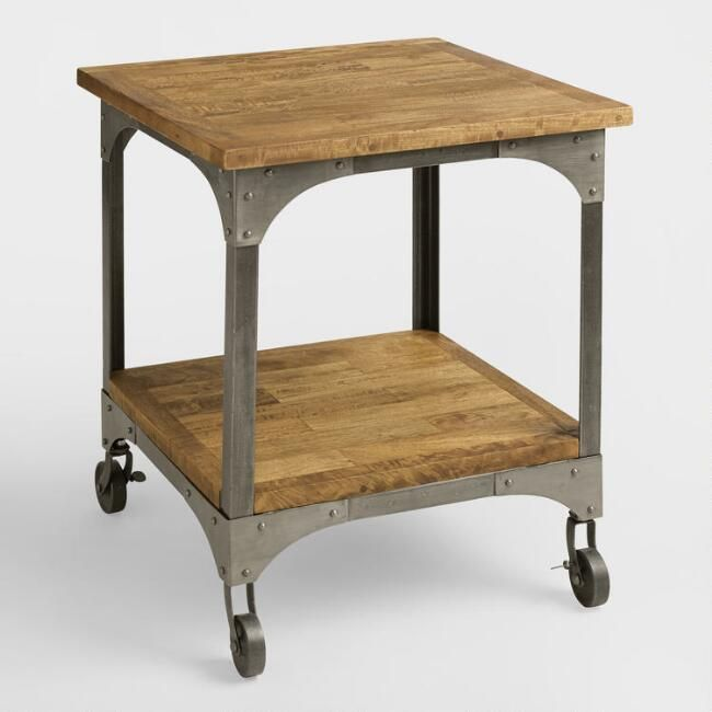 Wood And Metal Aiden End Table V1 Furniture End Tables