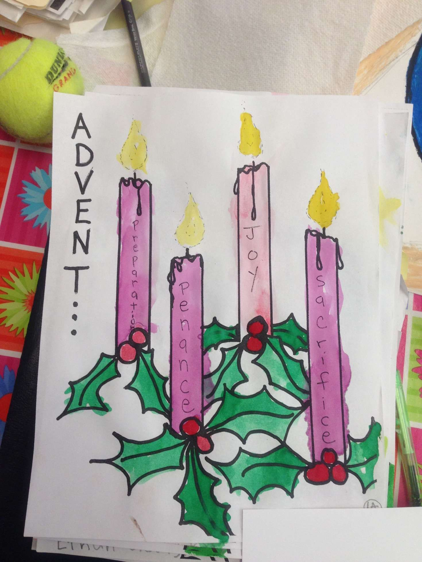 9 Advent Worksheet First Grade