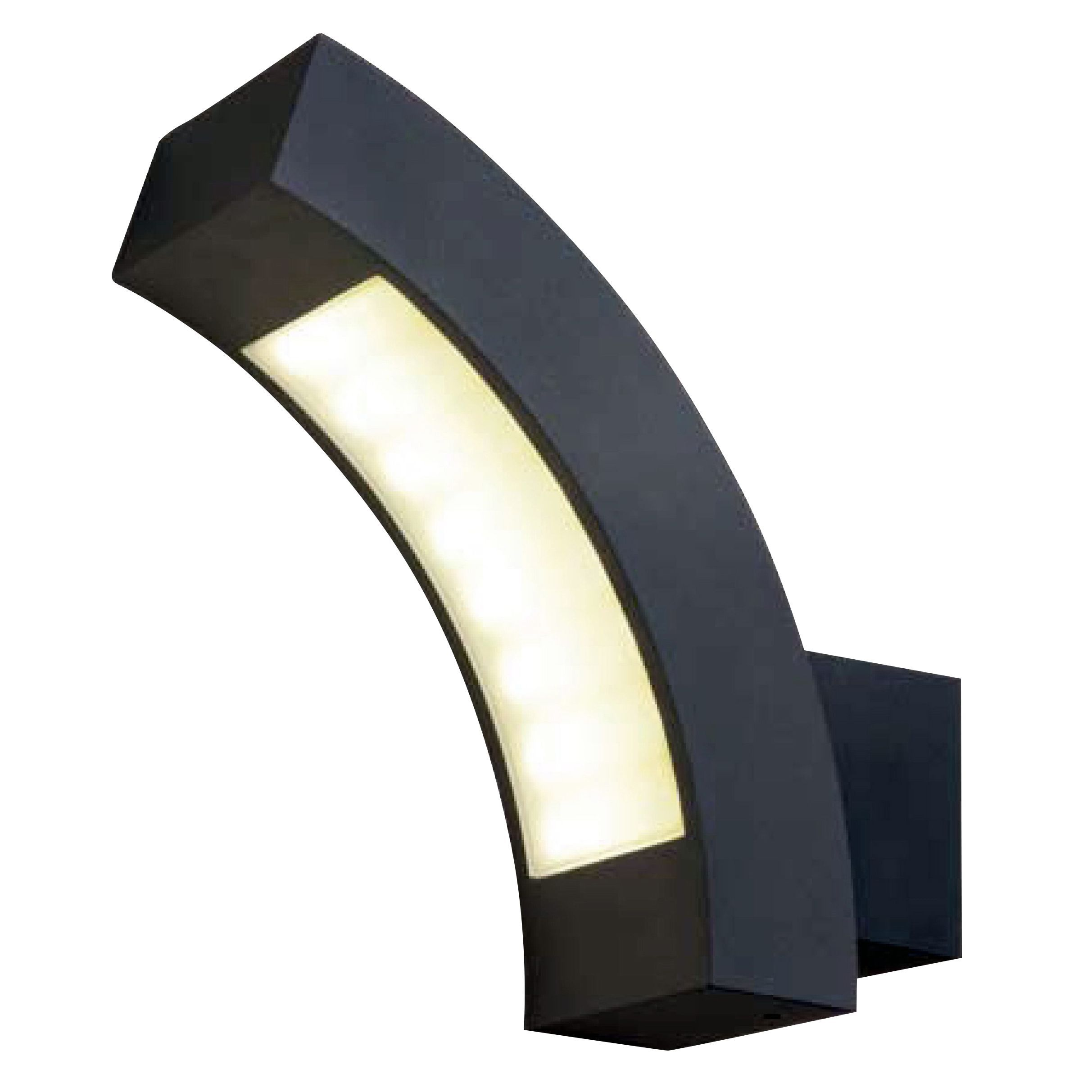 Blooma ross charcoal mains powered external wall light for Housse blooma