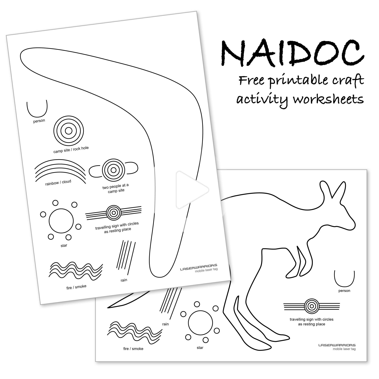 Naidoc Printable Craft Activity Worksheets In