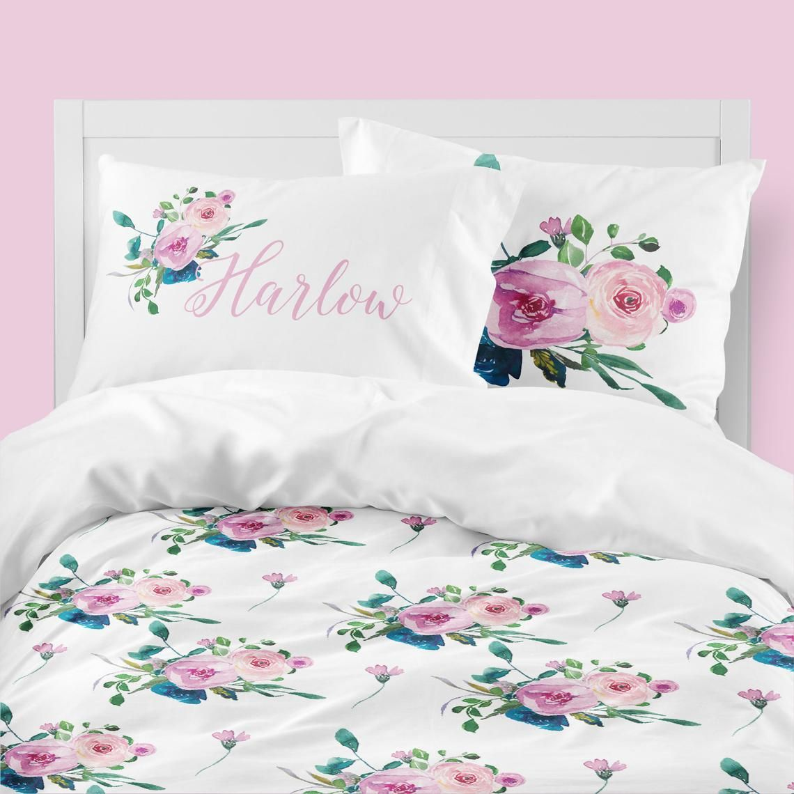 Pink Floral Bedding Navy Queen Duvet Cover Twin Comforter