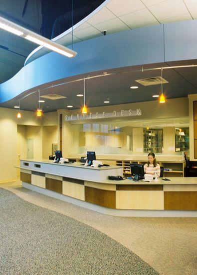 library design associates inc library furniture adult - Library Circulation Desk Design