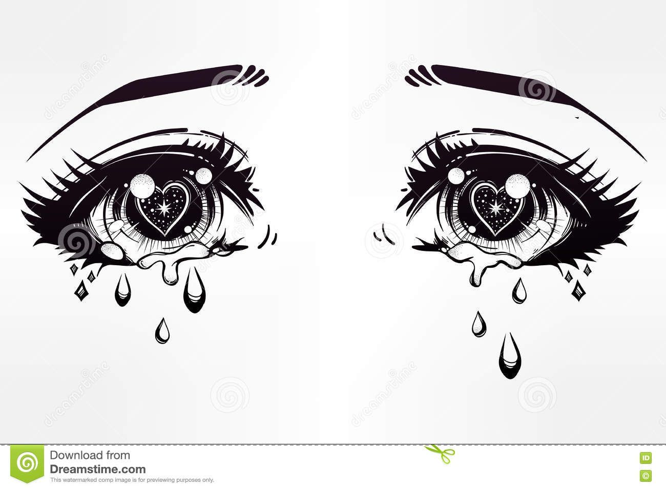 Image Result For Crying Anime Eyes Drawing Drawings Drawings
