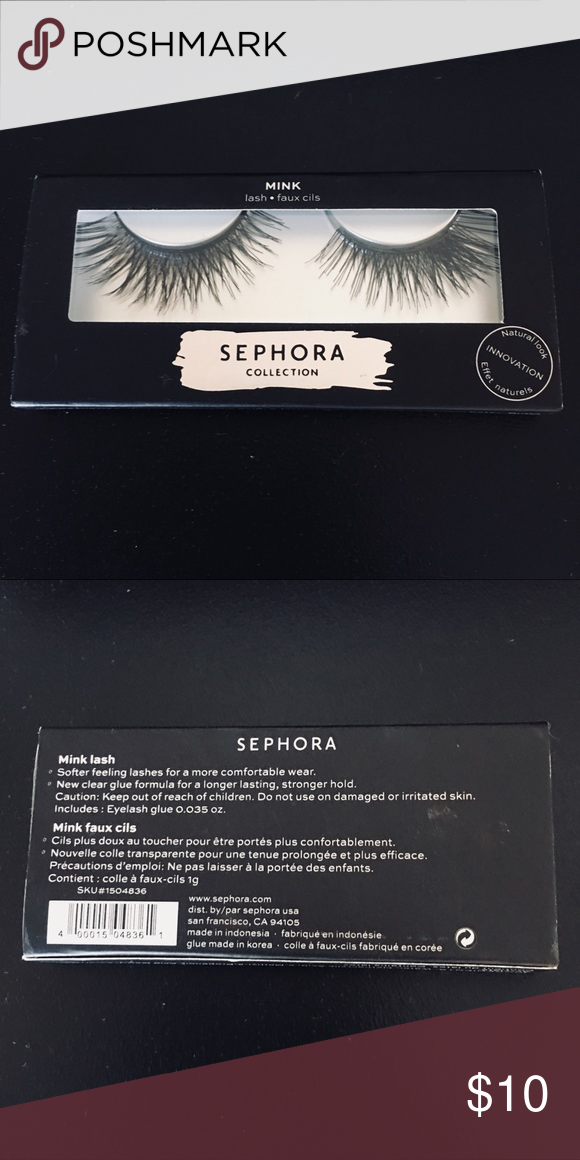 3bef201af93 Sephora Faux Mink Lashes Color: Black Style: Mink Includes glue adhesive.  Brand new