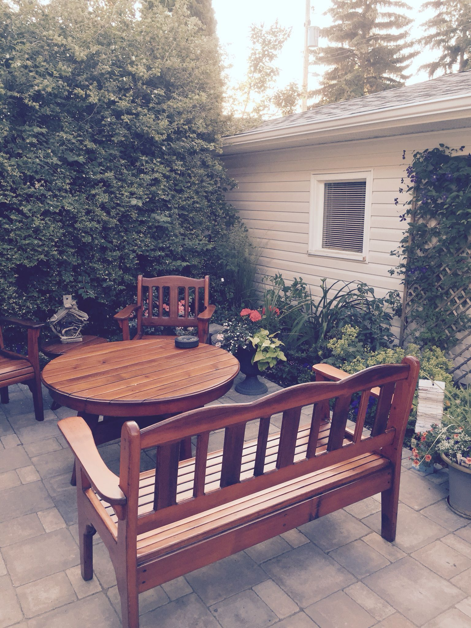 Back yard Edmonton  Outdoor decor, Backyard, Outdoor furniture