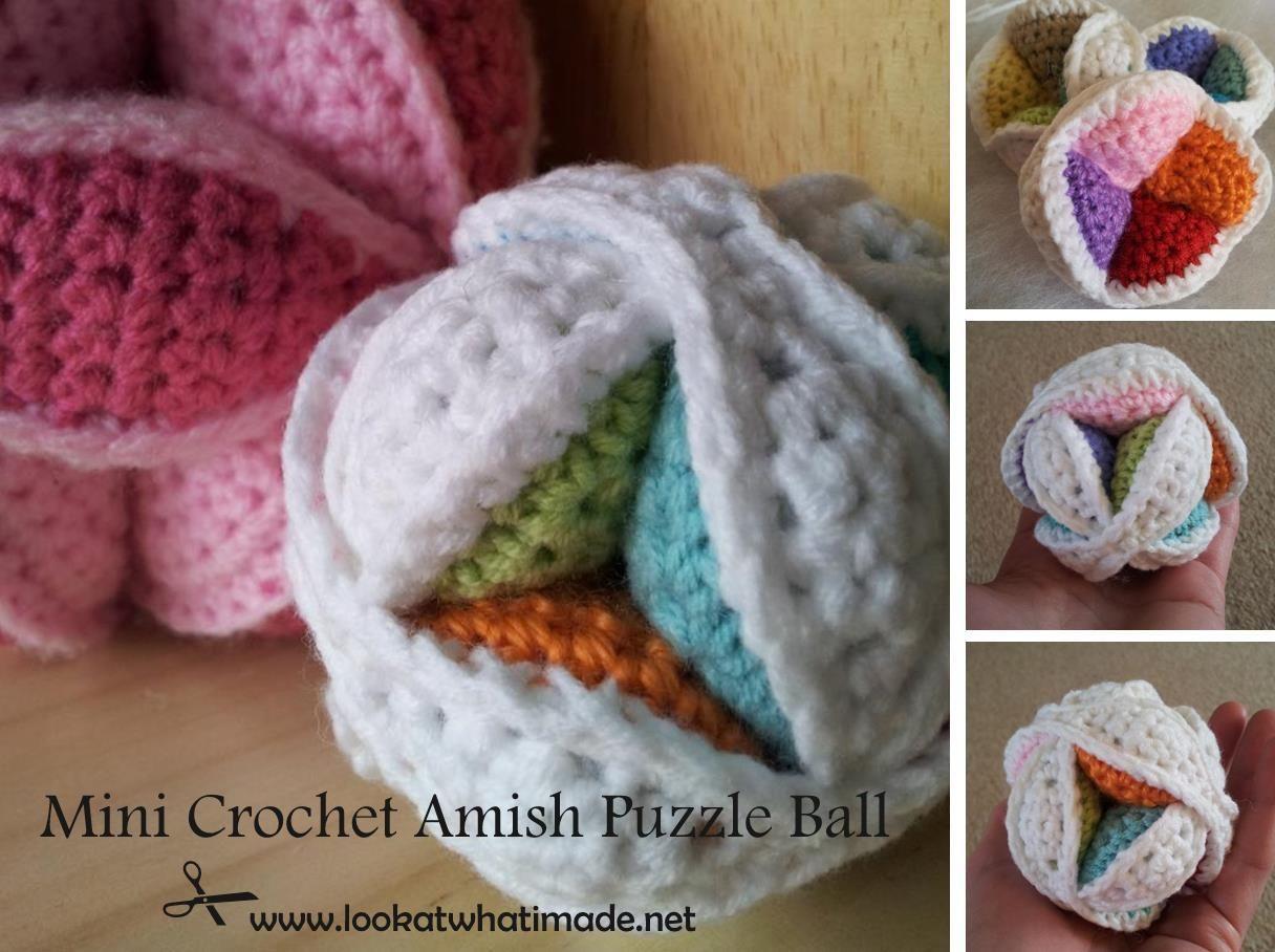 Mini Crochet Amish Puzzle Ball Free Pattern Lalylala Croché