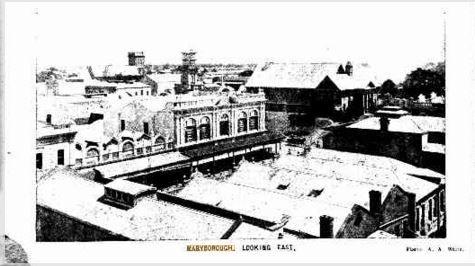 1917 Maryborough Looking East Streets Of Maryborough Pinterest Brisbane