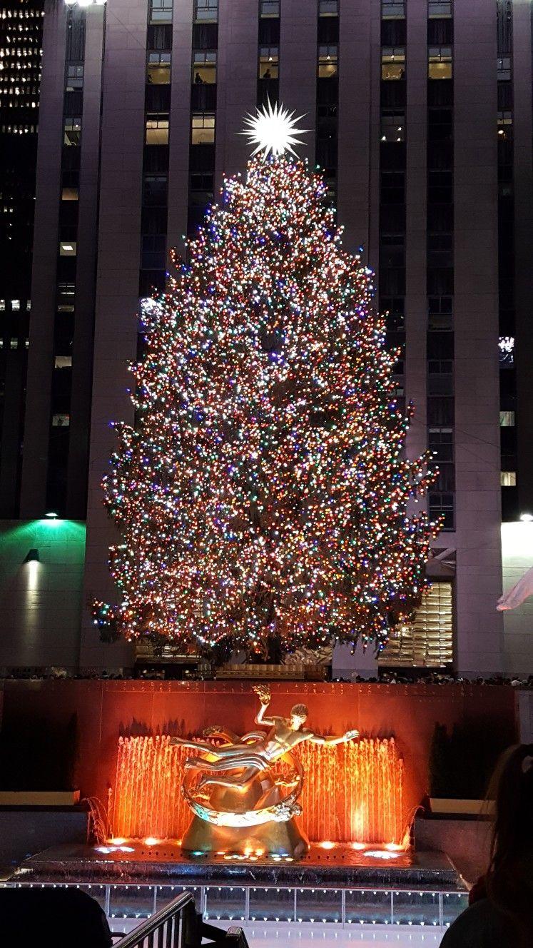 2018 Rockefeller Tree in 2019 New york christmas, Merry