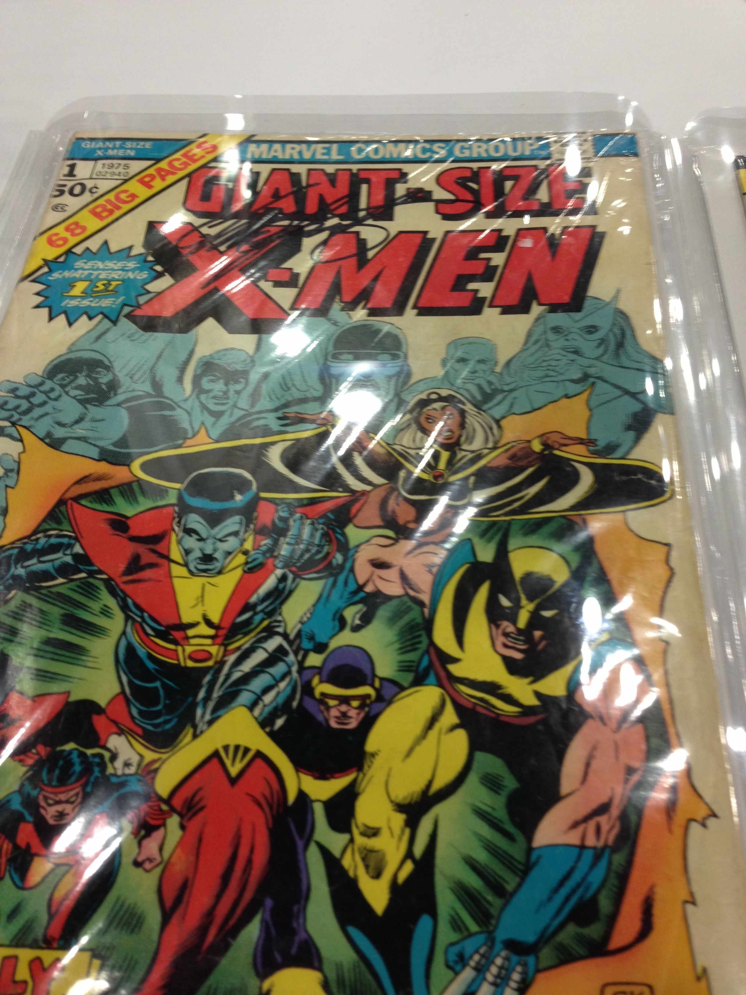 Giant Size X Men 001 Signed By Plot Developer Chris Claremont 1st Appearance Of The New X Men Colossus Nightcrawler Nightcrawler Colossus Comic Book Cover