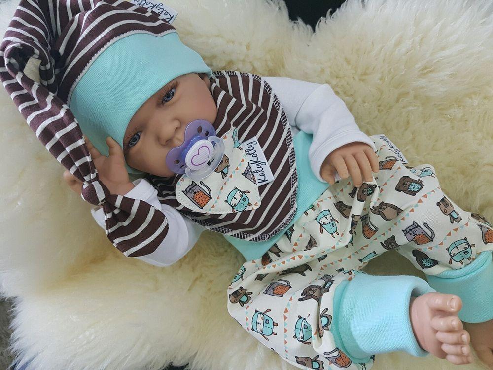 dawanda baby set pumphose halstuch und beanie m tze gr 50 56 62 neu in baby kleidung schuhe. Black Bedroom Furniture Sets. Home Design Ideas