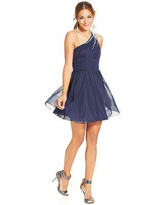 Fancy One Shoulder Cocktail Dress