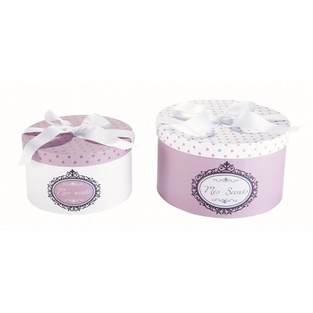 2 boîtes rondes en carton | Romantique | Cajas redondas, Cajas et