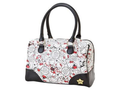 804a02ca586 Hello Kitty Mini Overnight Boston Bag Comic Series SANRIO JAPAN Online Store    Online Shop - 01