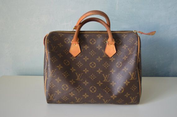 Vintage LOUIS VUITTON Speedy 30 Handbag Purse Made in France