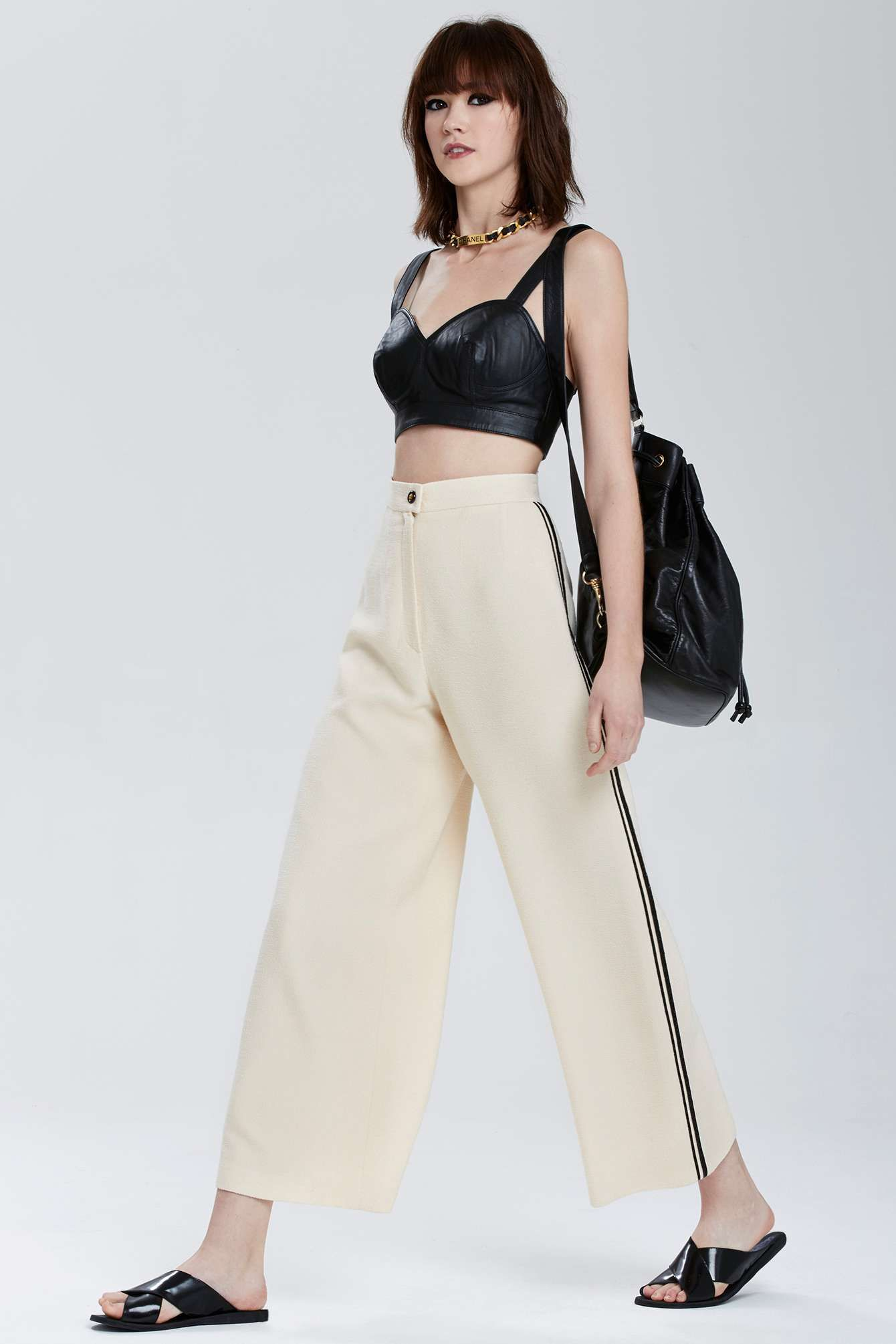 Vintage Chanel Gironde High-Waisted Trousers | Shop Vintage at Nasty Gal