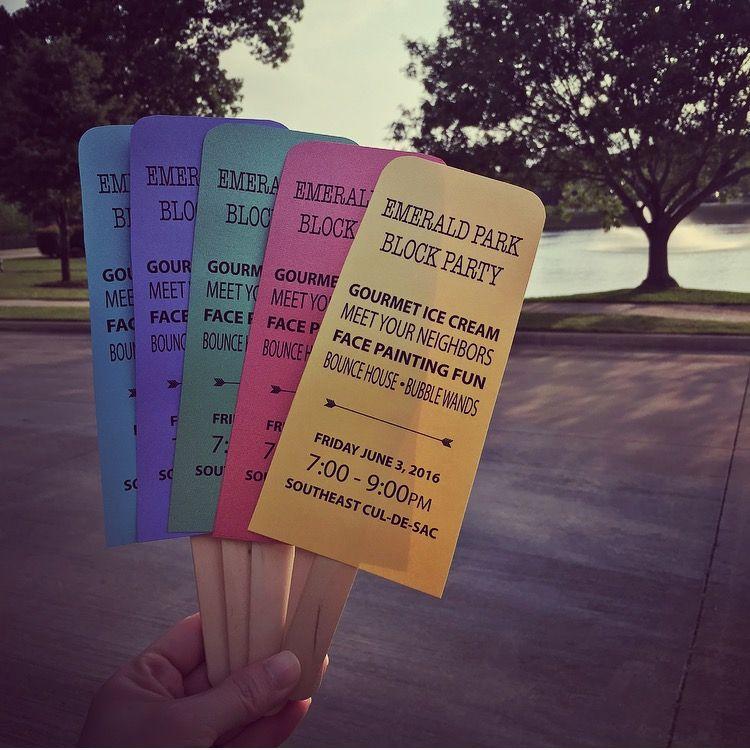 Block Party Invites Ice Cream Bars Neighborhood Party