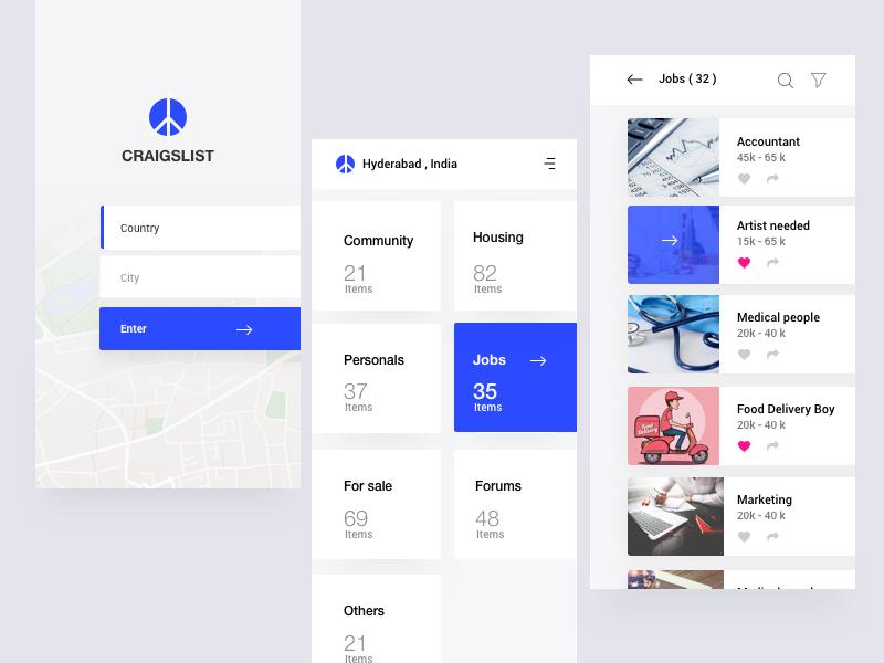 Craigslist Redesign | Redesign, Ios design, App design