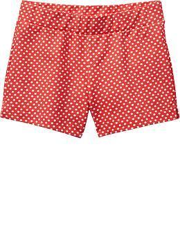 Lava guava! Girls Lightweight Terry-Fleece Shorts