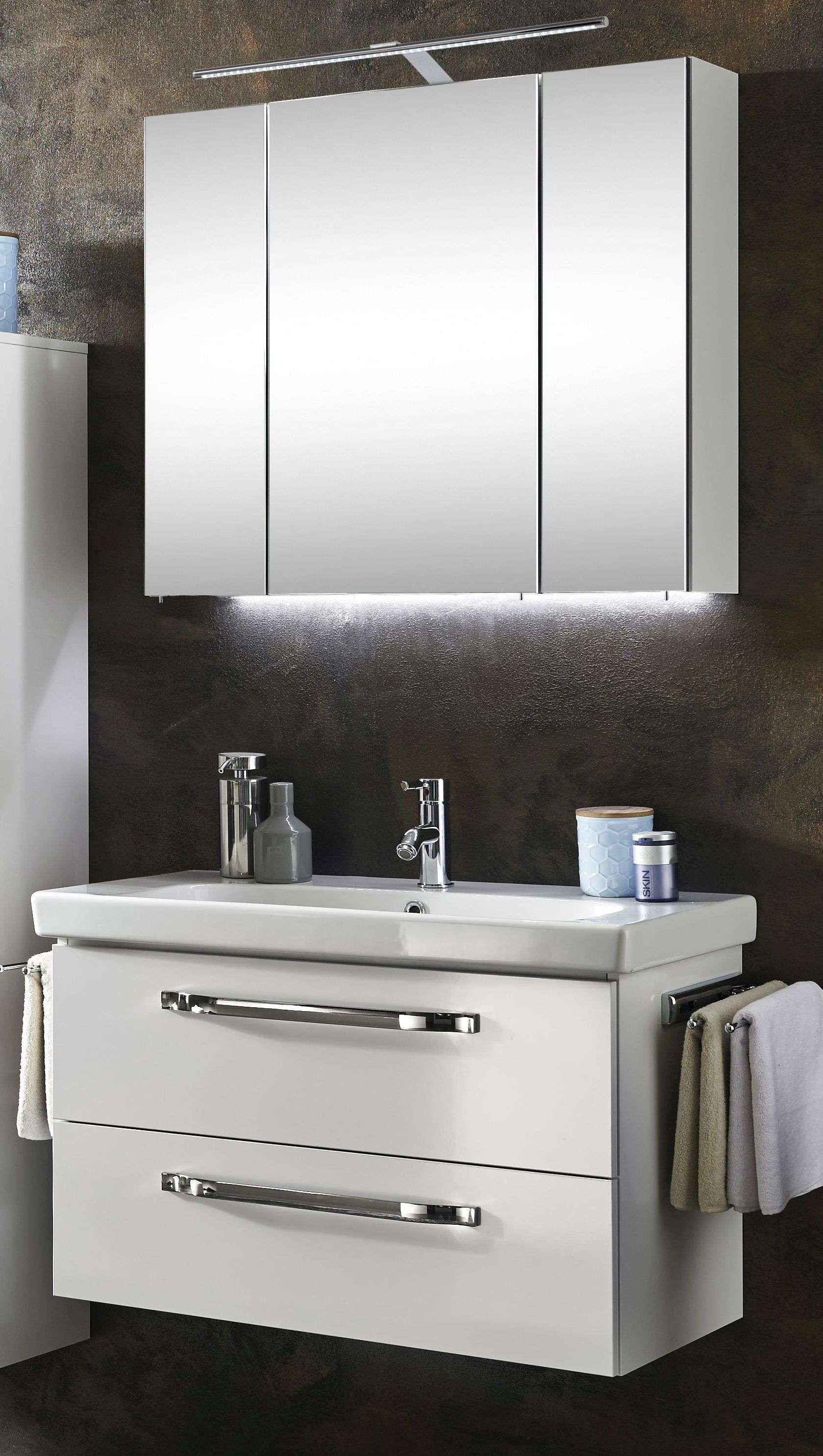 Waschtisch Spiegelschrank Set Marlin Bad 3060 Badmobel Set 85 Cm