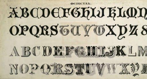 Alphabet in Medieval script :: Zaner-Bloser Penmanship