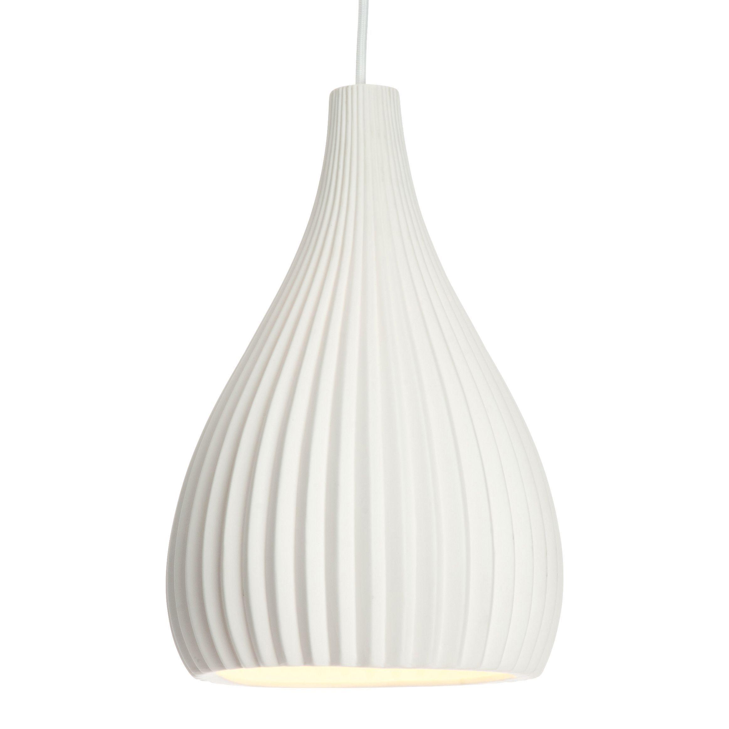 Asinara White Matt Pendant Ceiling Light - Departments - Diy