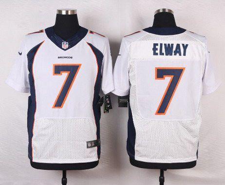 Men's Denver Broncos #7 John Elway White Retired Player NFL Nike Elite Jersey