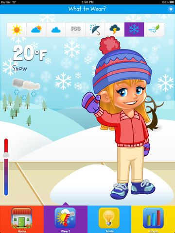 Kid Weather (1.99) A true weather app for kids designed