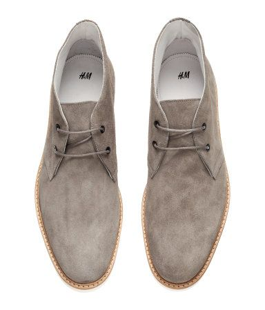 97fb5bb718dbbd Desert boots in 100% grey suede with laces at front. Rubber soles ...