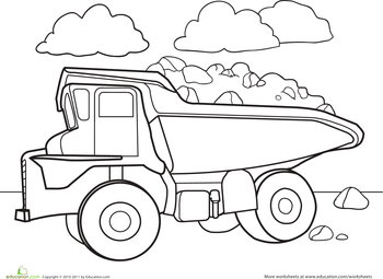 color a car dump truck transportation ausmalbilder malvorlagen ausmalen. Black Bedroom Furniture Sets. Home Design Ideas