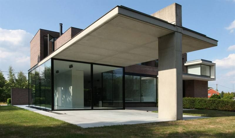 Overdekt terras google zoeken huisje pinterest architecture architecture interiors and - Modern overdekt terras ...