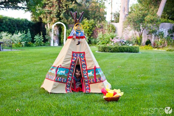 how to build a teepee for a school project