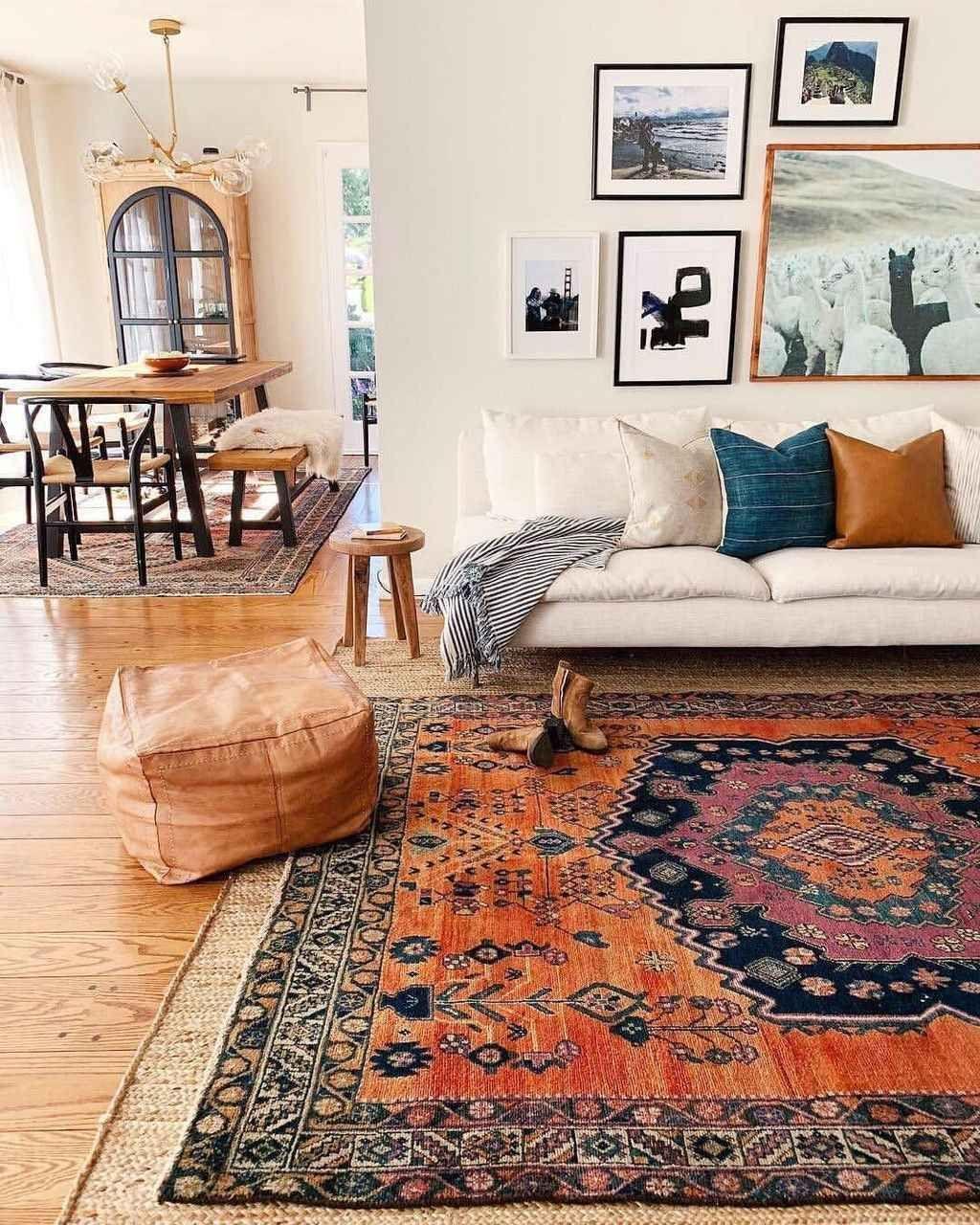 95 Best Farmhouse Living Room With Rug Decor Ideas
