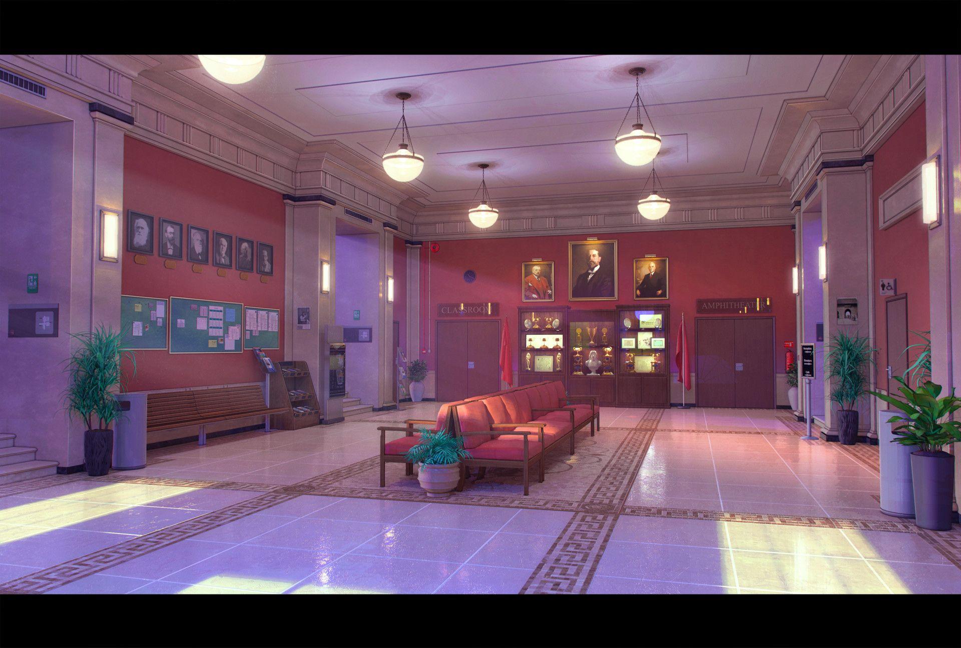 University Hall by Goliat Gashi in 2020 Anime background