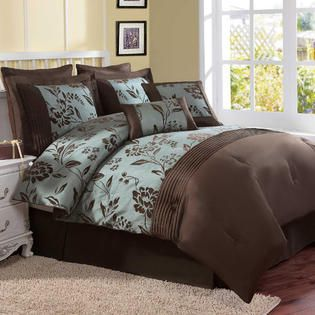 chocolate and turquoise comforter sets