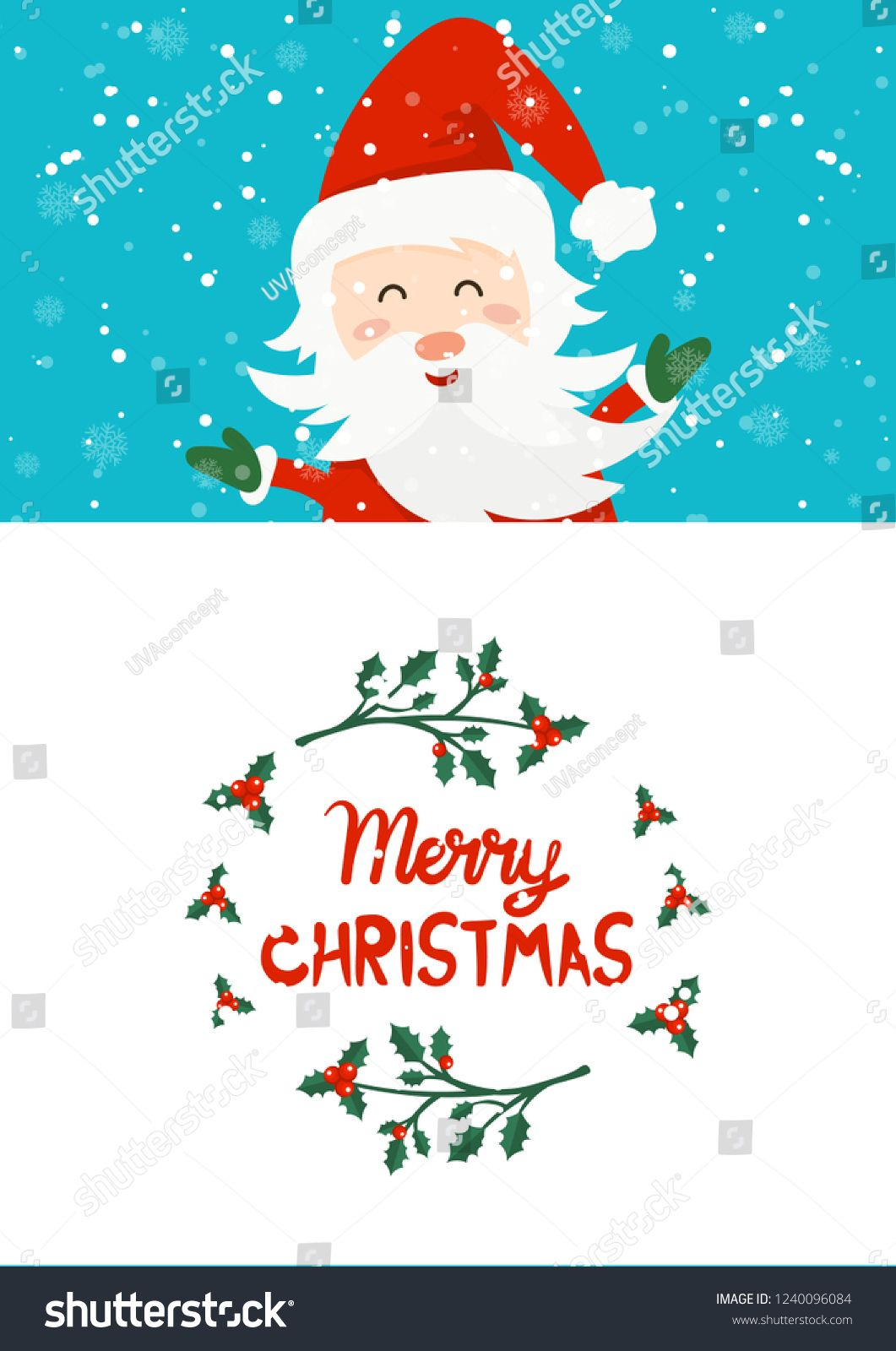 Merry Christmas and Happy New Year winter holidays