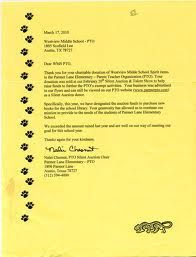Sample Fundraising Letters For Silent Auction Donations Sample