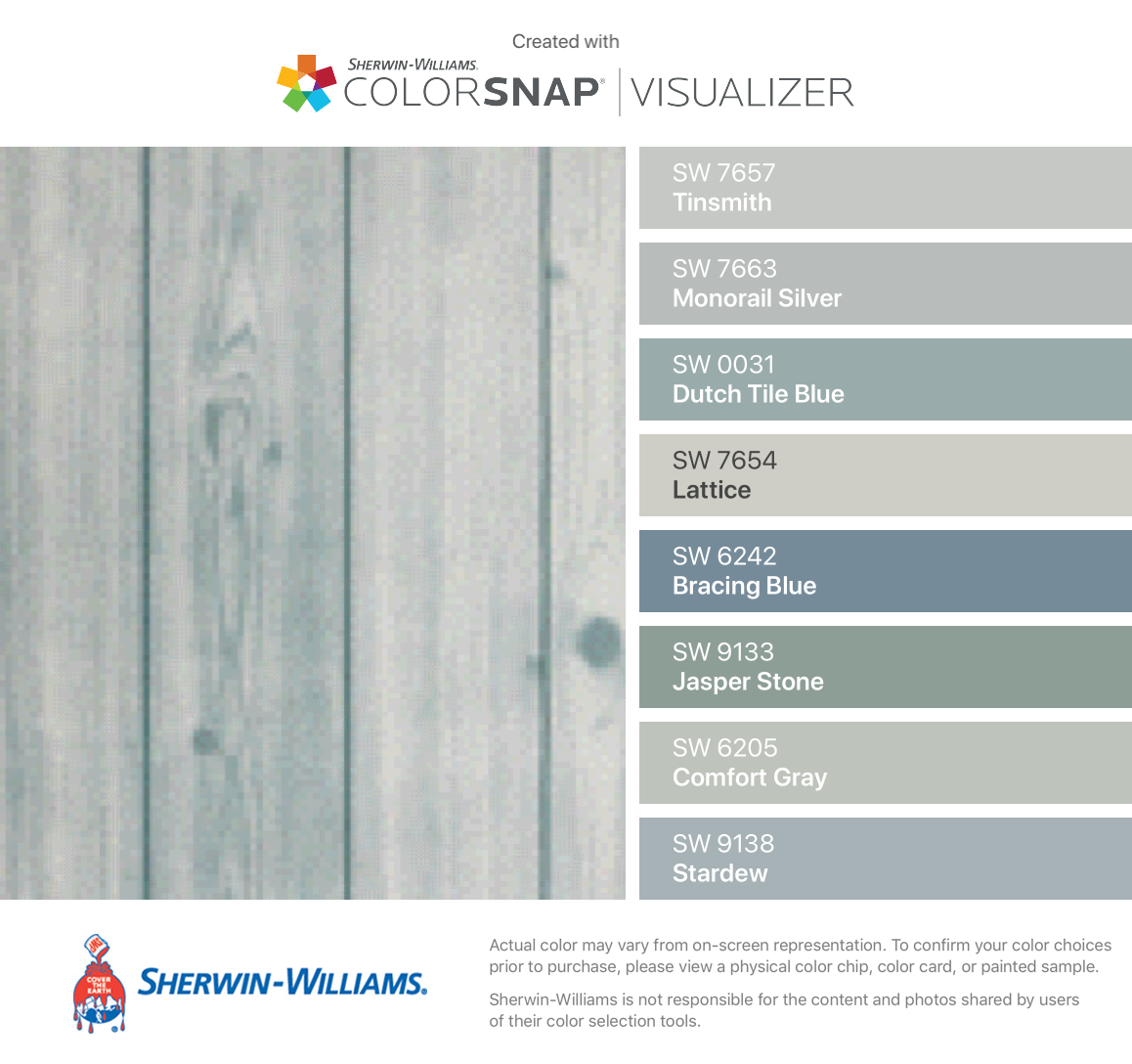 Sicohome Peel And Stick Wallpaper From Amazon Found These Colors With Colorsnap Visualizer F Sherwin Williams Paint Colors Dutch Tiles Paint Colors For Home